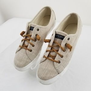 Sperry womens Size 10 shoes Beige
